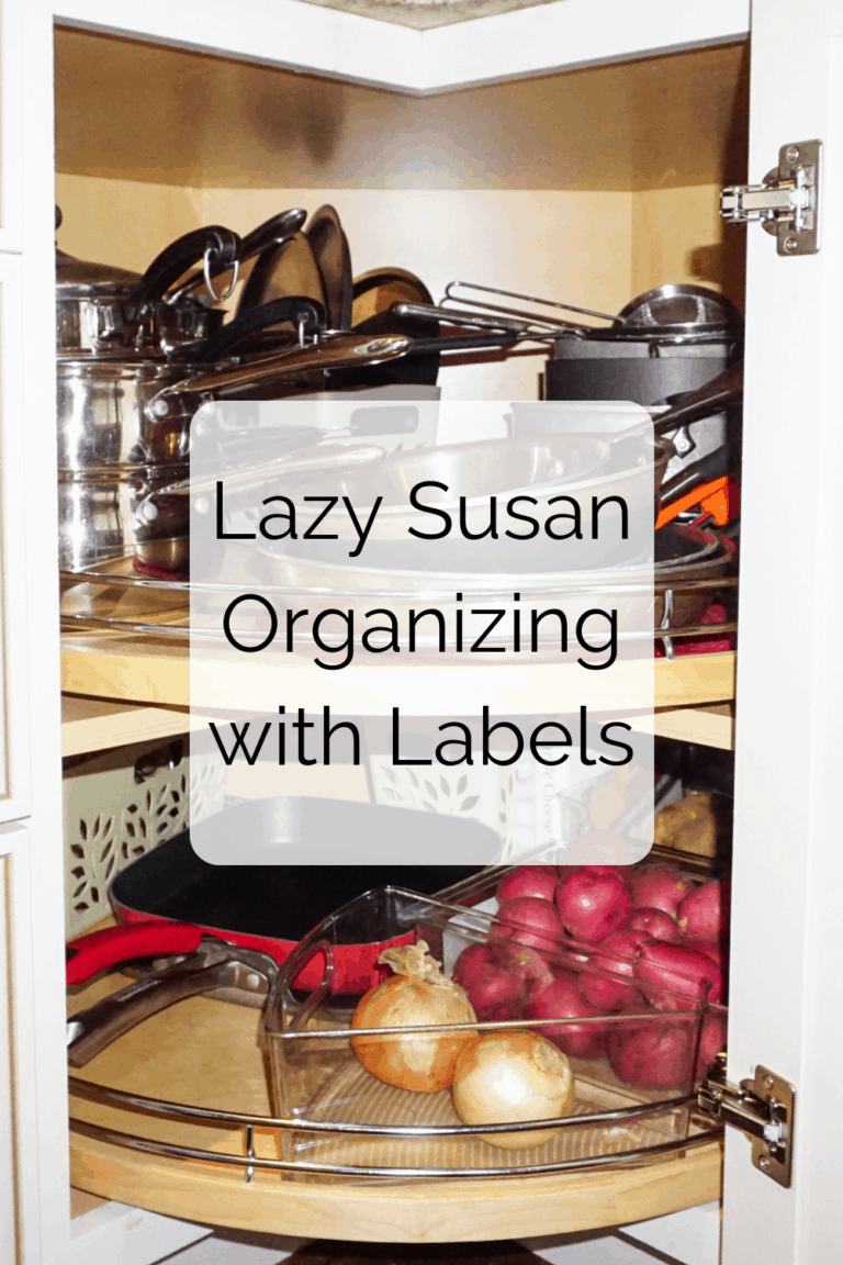 Read more about the article Lazy Susan Kitchen Organizing With Labels