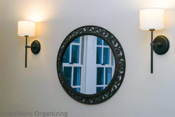 Dining room sconces with switch on board