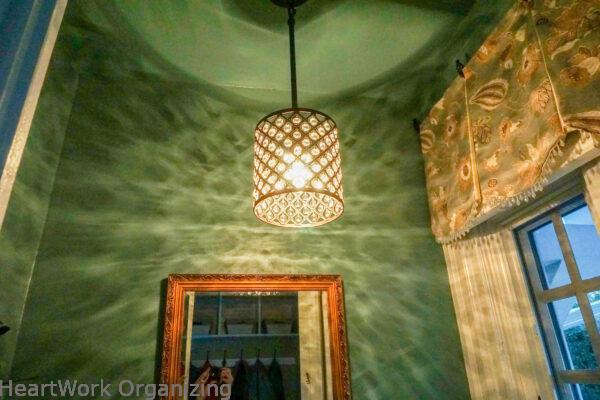 crystal light fixturee for tiny bathroom