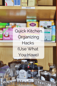 Read more about the article Quick Kitchen Organizing Hacks (Use What You Have)