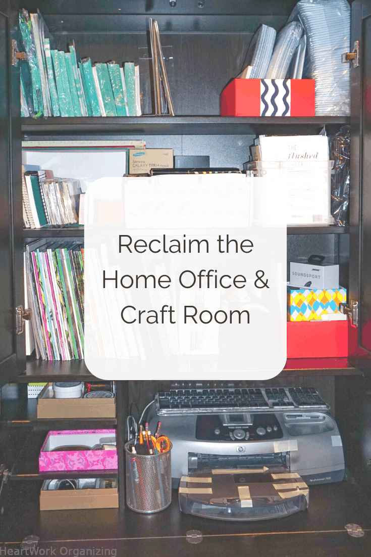 Read more about the article Reclaim the Home Office – Craft Room Organizing