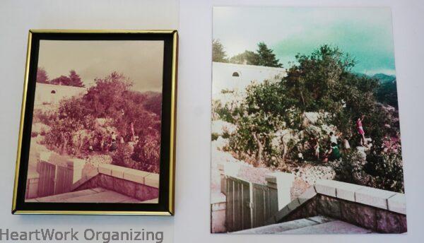 Restored photo color enlargement restoration