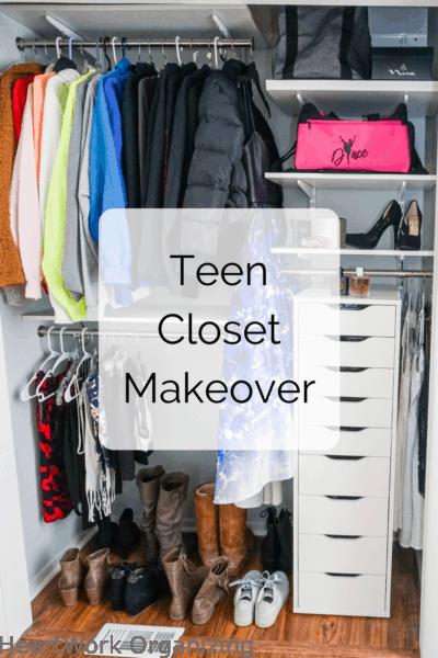 Teen Closet Organizing Makeover
