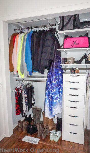 teen closet organizing makeover double hanging