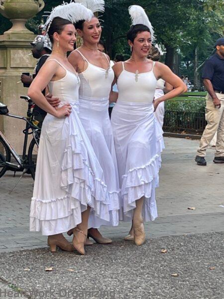 2 nights in Philadelphia, Pennsylvania- Diner en Blanc 2021 cancan dancers