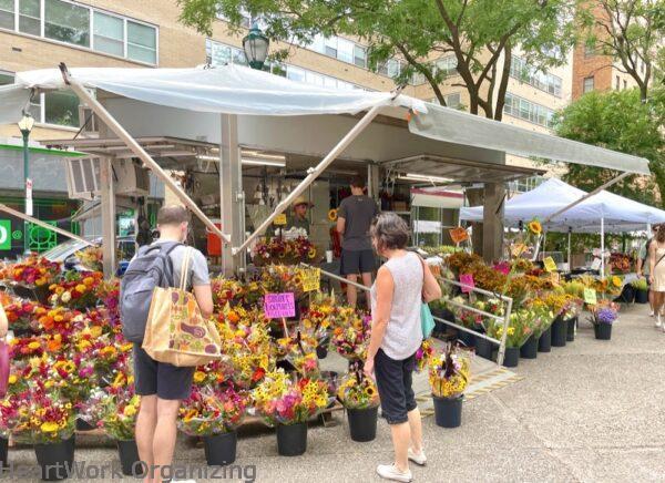 2 nights in Philadelphia, Pennsylvania- Rittenhouse Square Park flower market