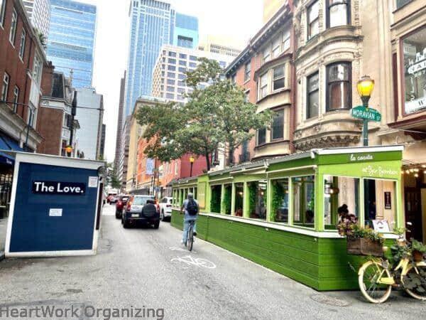 2 nights in Philadelphia, Pennsylvania- outdoor restaurant seating