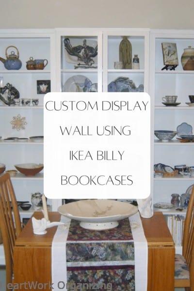 Custom Display Wall Using IKEA Billy Bookcases