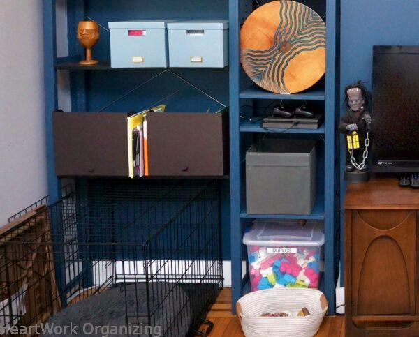 How to Organize a Small Home Without a Closet-dog crate