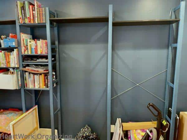 How to Organize a Small Home Without a Closet- Ivar storage unit