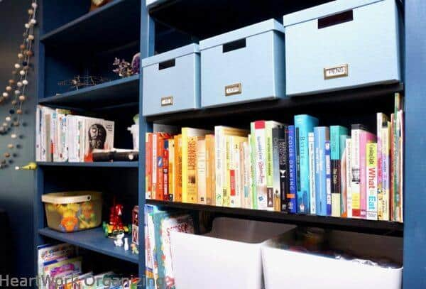 How to Organize a Small Home Without a Closet-her books