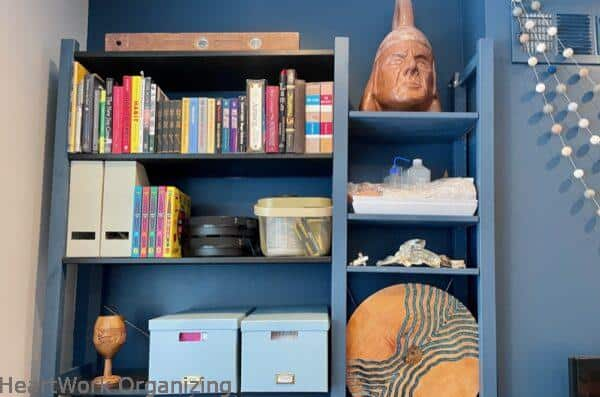 How to Organize a Small Home Without a Closet-his books