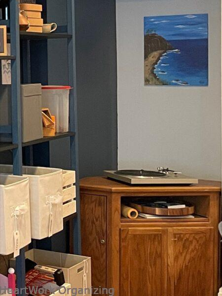 How to Organize a Small Home Without a Closet- record player