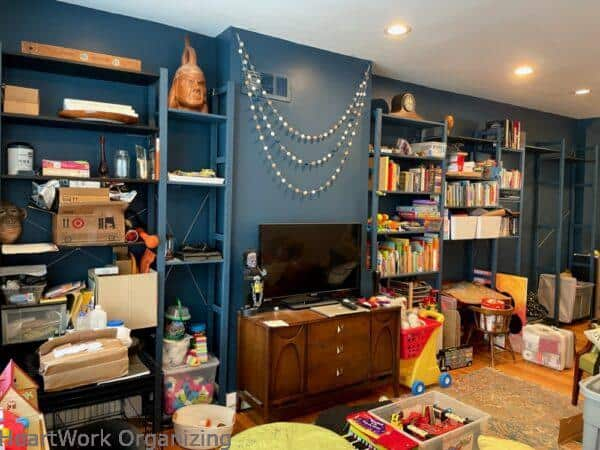 How to Organize a Small Home Without a Closet-before