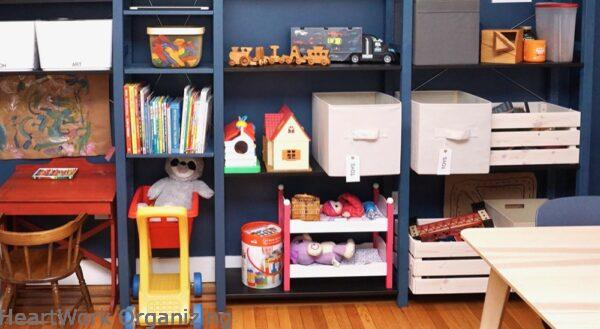 How to Organize a Small Home Without a Closet-with child's desk
