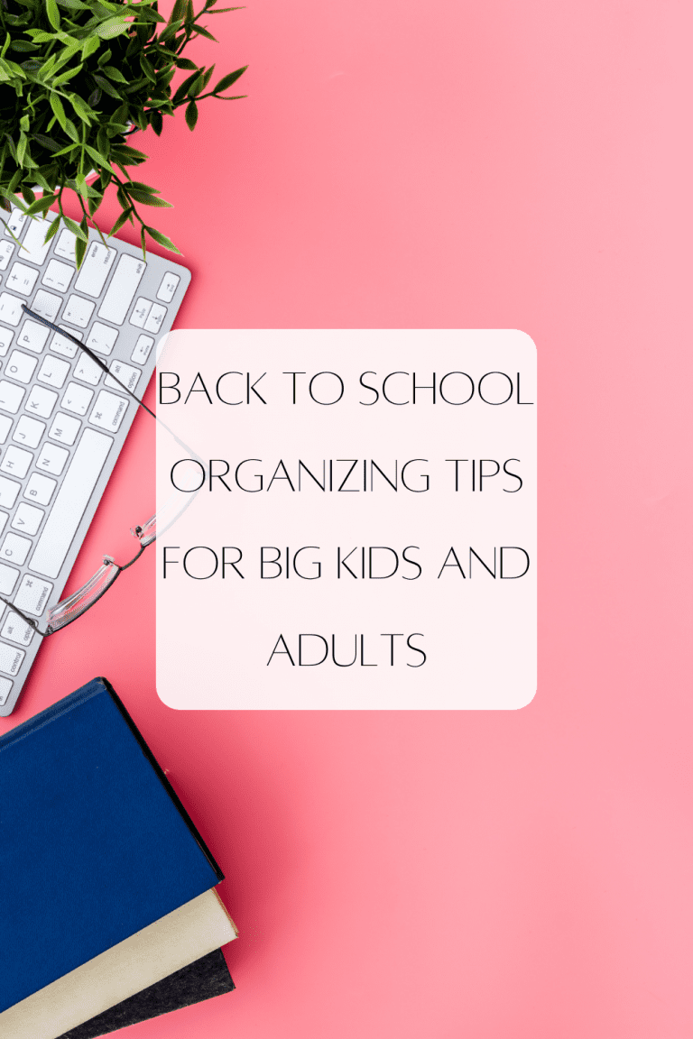 Back to School Organizing Tips for Big Kids and Adults