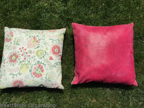 How to Pain Patio Cushions-with pattern