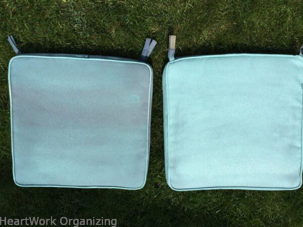 How to Paint Patio Cushions-third coat