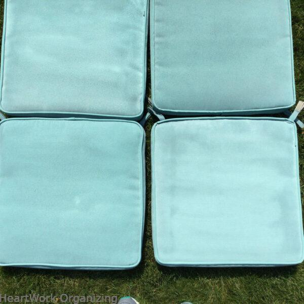 How to Paint Patio Cushions- after