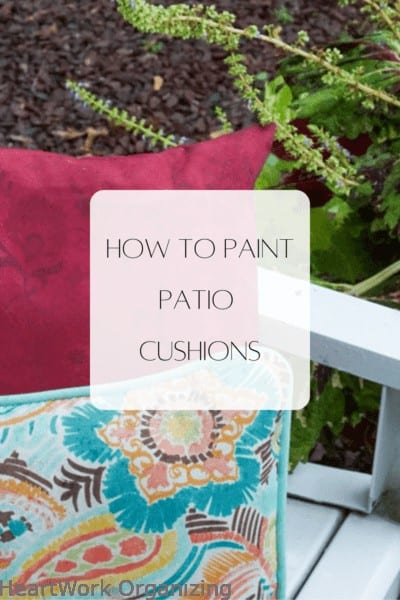 How to Paint Patio Cushions and Pillows