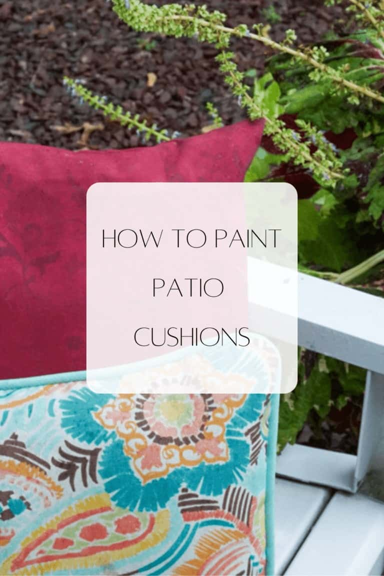 How to Paint Patio Cushions- before and after