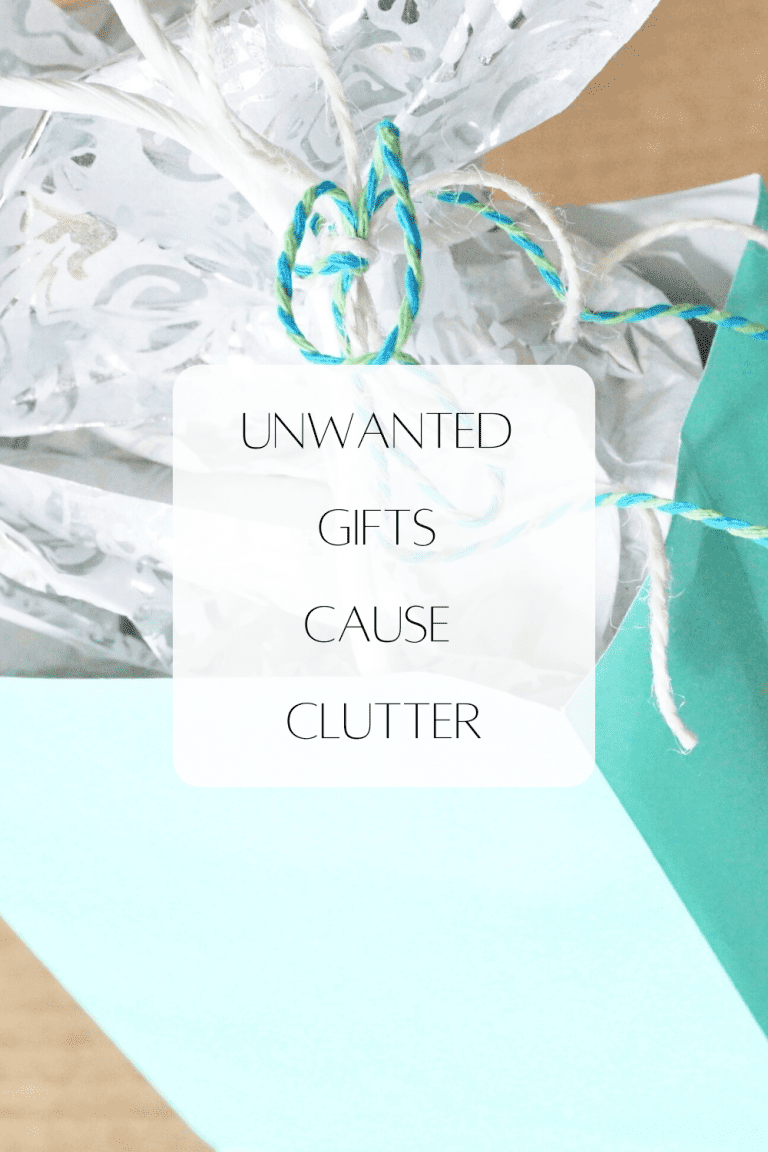 unwanted gifts cause clutter